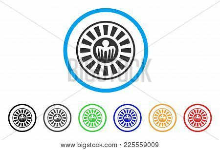 Spectre Casino Roulette Icon. Vector Illustration Style Is A Flat Iconic Spectre Casino Roulette Bla