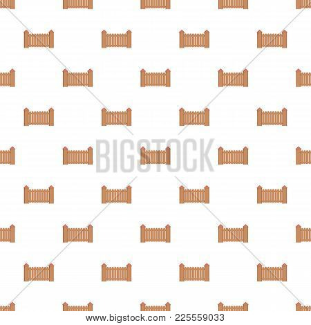Fence With Turret Pattern Seamless In Flat Style For Any Design