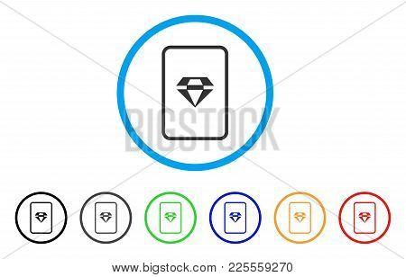 Ruby Gambling Card Icon. Vector Illustration Style Is A Flat Iconic Ruby Gambling Card Black Symbol