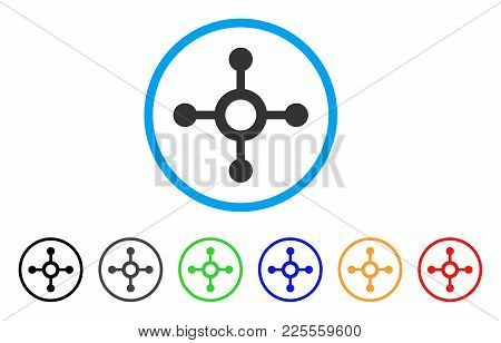 Roulette Icon. Vector Illustration Style Is A Flat Iconic Roulette Black Symbol With Gray, Yellow, G