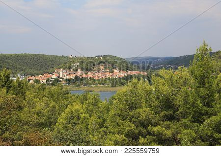 Skradin, Croatia - September 9, 2016: It Is A Small Old Croatian Town, Which Is Located On The Krka