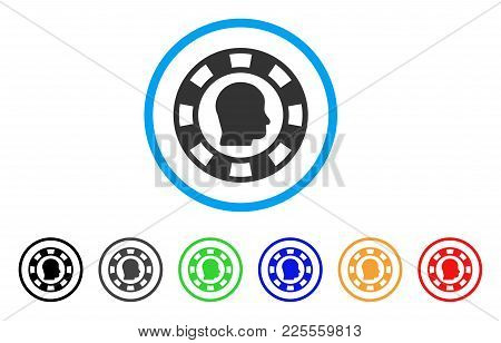 Personal Casino Chip Icon. Vector Illustration Style Is A Flat Iconic Personal Casino Chip Black Sym