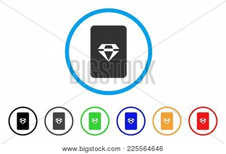 Ruby Gaming Card Icon. Vector Illustration Style Is A Flat Iconic Ruby Gaming Card Black Symbol With