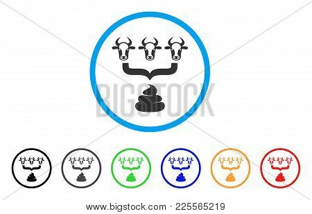 Cow Manure Aggregator Funnel Icon. Vector Illustration Style Is A Flat Iconic Cow Manure Aggregator