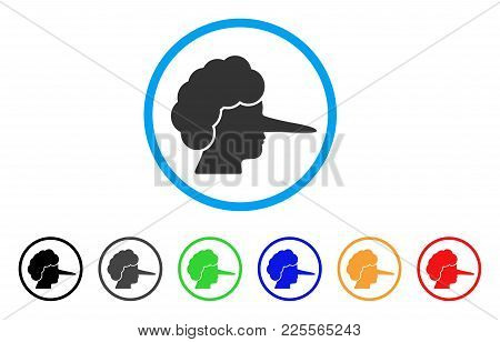 Lier Icon. Vector Illustration Style Is A Flat Iconic Lier Black Symbol With Grey, Yellow, Green, Bl