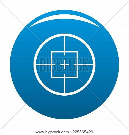Aiming Device Icon Vector Blue Circle Isolated On White Background