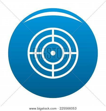 Objective Of Target Icon Vector Blue Circle Isolated On White Background