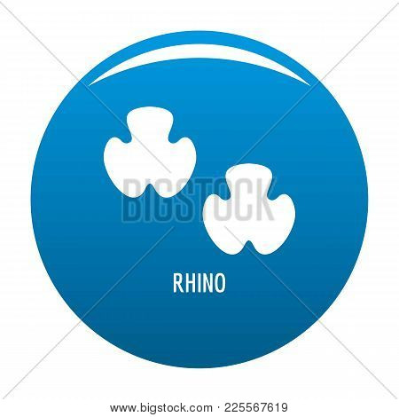 Rhino Step Icon Vector Blue Circle Isolated On White Background
