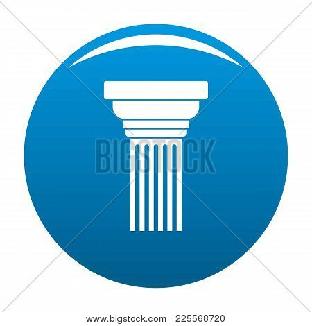 Expanding Column Icon Vector Blue Circle Isolated On White Background