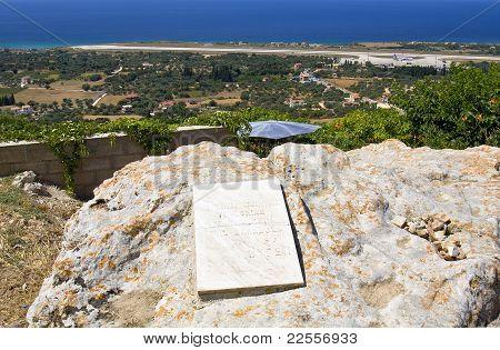 Lord Byron's rock at Lakithra village