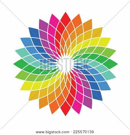 Color Wheel Palette - Flower Shaped Spectrum Swatch