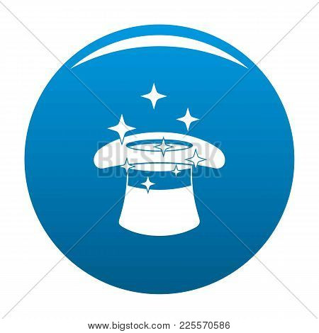 Hat With A Star Icon Vector Blue Circle Isolated On White Background