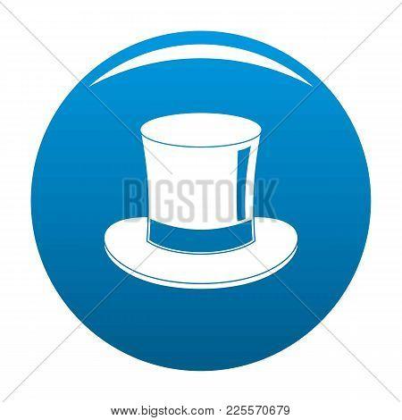 Magic Cylinder Icon Vector Blue Circle Isolated On White Background