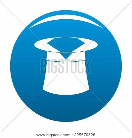 Hat With Napkin Icon Vector Blue Circle Isolated On White Background