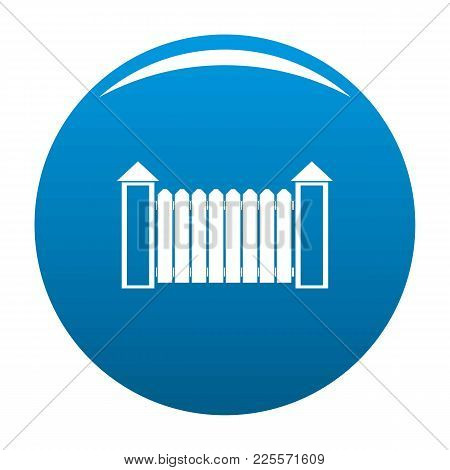 Fence With Turret Icon Vector Blue Circle Isolated On White Background