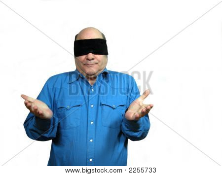 Blindfolded With Arms Out