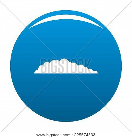 Meteorology Icon Vector Blue Circle Isolated On White Background