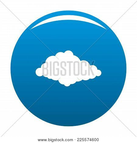Cloudiness Icon Vector Blue Circle Isolated On White Background