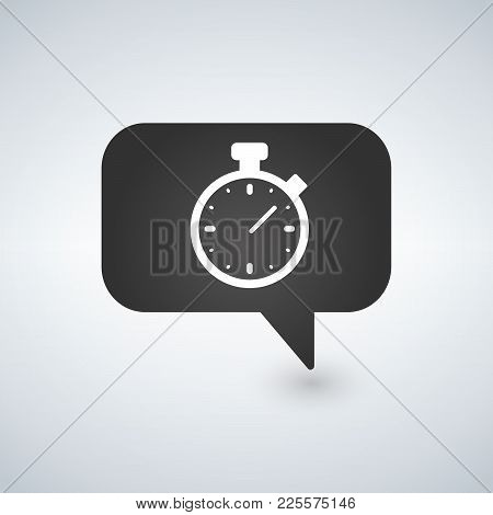 Timer Sign Icon. Stopwatch Symbol. Information Vector
