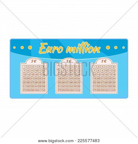 Lottery Ticket For Drawing Money, Prizes. Ticket For Event, Concept Of Financial Success, Growth, Lu