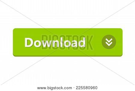Download Button Isolated On White Background. Vector Stock.