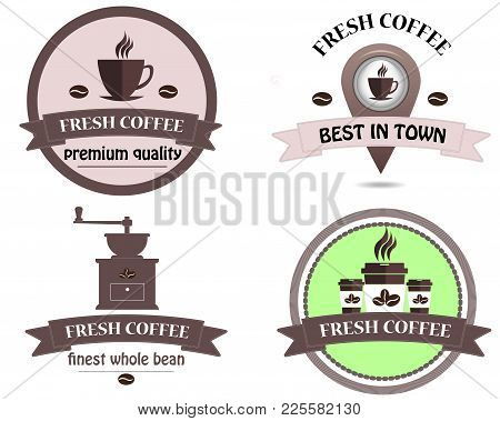 Coffee Shop Logo Vector Illustration.natural Coffee Logo Template Design Vector, Emblem, Design Conc