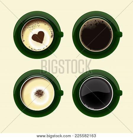 Our Different Coffee Cups On Threalistic Coffee Cups With Americano Latte Espresso Macchiatto Mocha