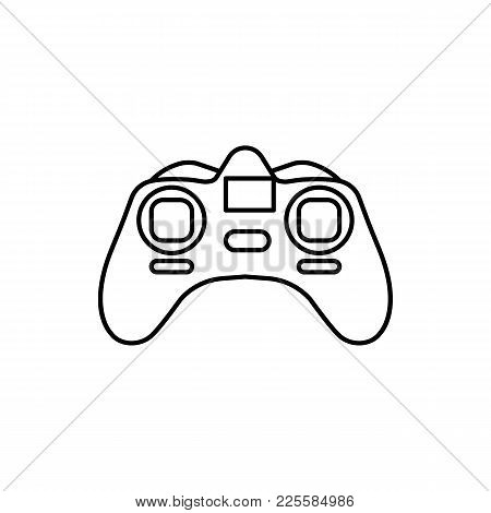 Remote Control Outline Icon Isolated On White Background. Remote Control Object For Outline Design,