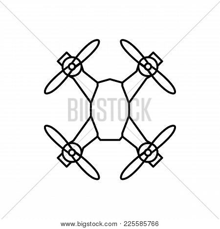 Drone Icon In Outline Style. Drone Object Pictogram Graphic For Web Design. Outline New Technology V
