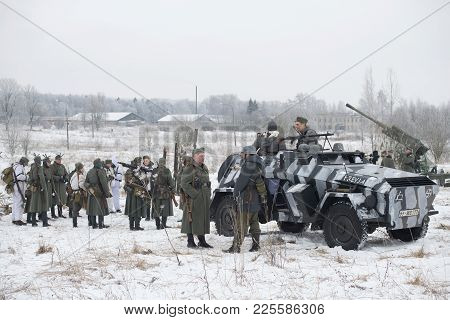 Saint Petersburg, Russia - January 14, 2018: Participants In The Military-historical Festival