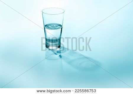 Half Full, Half Empty Concept Representation With Glass Of Water