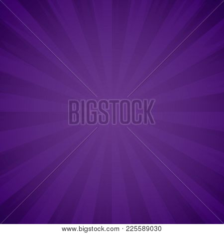 Purple Grunge Background Texture. Sunburst, Light Rays Effect. Explosion And Radiate Violet Beams. V