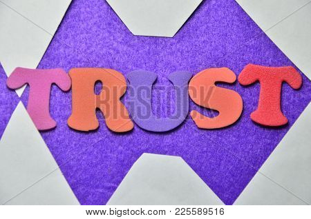 Word Trust  On An  Abstract Coloredc Background