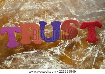 Word Trust On An   Abstract  Colored  Background