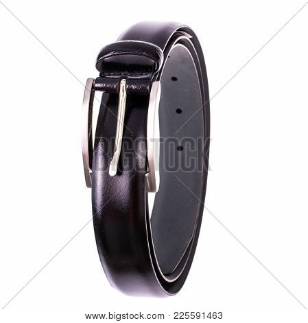 Men's Belt Black Leather Classic Pants