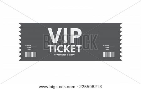 Special Vip Movie Ticket, Vector Design, Eps10