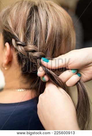 Weave Braids In The Beauty Salon . Photos In The Studio