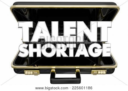 Talent Shortage Help Wanted Briefcase Find New Employees 3d Illustration