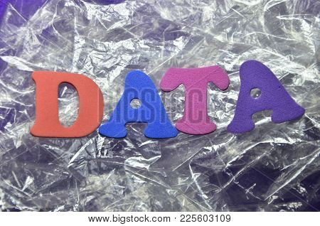 Word Data On An   Abstract Colored Background