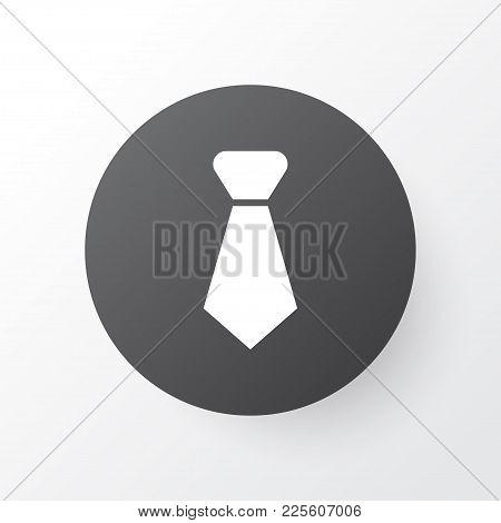 Necktie Icon Symbol. Premium Quality Isolated Tie Element In Trendy Style.