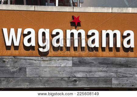 Dorchester, Uk - August 15th 2017: The Sign Above A Wagamama Asian Food Restaurant In Dorchester, Uk