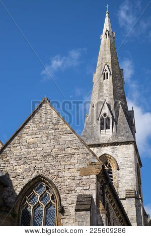 A View Of The Lovely All Saints Church In Dorchester, Dorset, Uk.