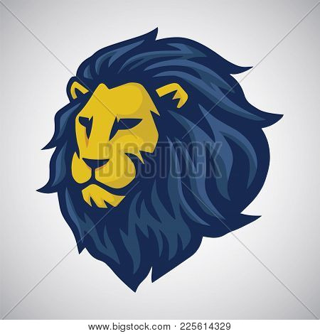 Lion Vector Mascot Logo. Sport Mascot Logo Design Template