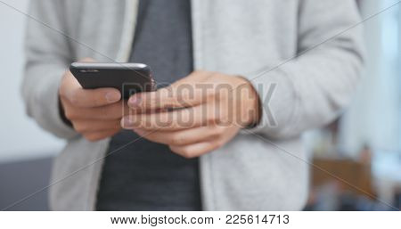 Using cell phone