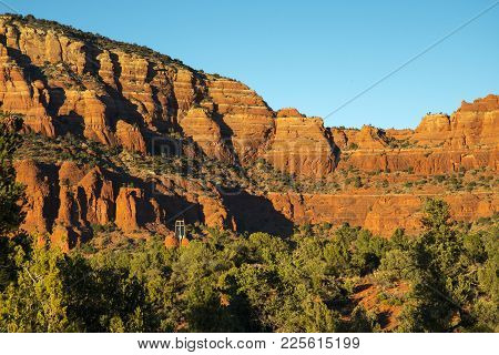 Rock Formations In Red Rock Country Near Sedona, Arizona