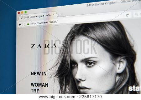 London, Uk - August 10th 2017: The Homepage Of The Official Website For Zara, The Spanish Clothing A