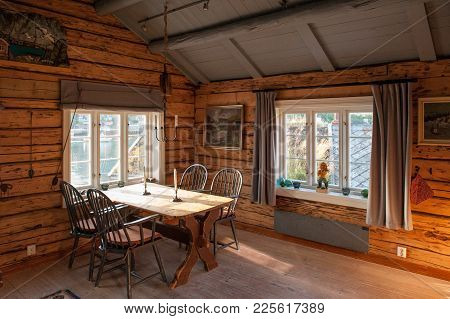Reine, Norway - July 4, 2011: Interior Of A Rorbu Cottages In Reine. These Traditional Seasonal Cott