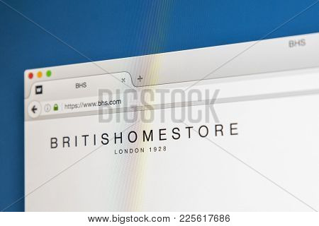 London, Uk - August 10th 2017: The Homepage Of The Official Website For British Home Stores, Also Kn