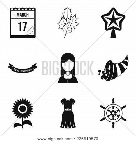 Public Holiday Icons Set. Simple Set Of 9 Public Holiday Vector Icons For Web Isolated On White Back