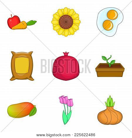 Devouring Icons Set. Cartoon Set Of 9 Devouring Vector Icons For Web Isolated On White Background